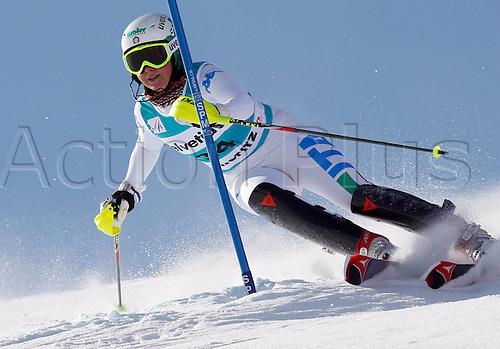 29.01.2012.  Ski Alpine FIS WC St Moritz Super Combination women  Ski Alpine FIS World Cup Super combination for women Slalom Picture shows Lisa Magdalena  ITA