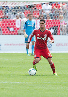 29 June 2013: Toronto FC midfielder Jonathan Osorio #21 in action during an MLS game between Real Salt Lake and Toronto FC at BMO Field in Toronto, Ontario Canada.<br /> Real Salt Lake won 1-0.
