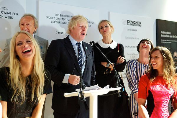 Poppy Delevigne, Harold Tilman, Boris Johnson, Laura Bailey, Erin O'Connor and Heather Fell