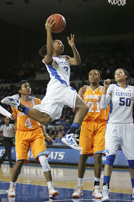 Senior Crystal Riley take a shot against the University of Tennessee in Memorial Coliseum, on Thursday, Jan. 12, 2012. Kentucky won 61-60. Photo by Latara Appleby | Staff ..