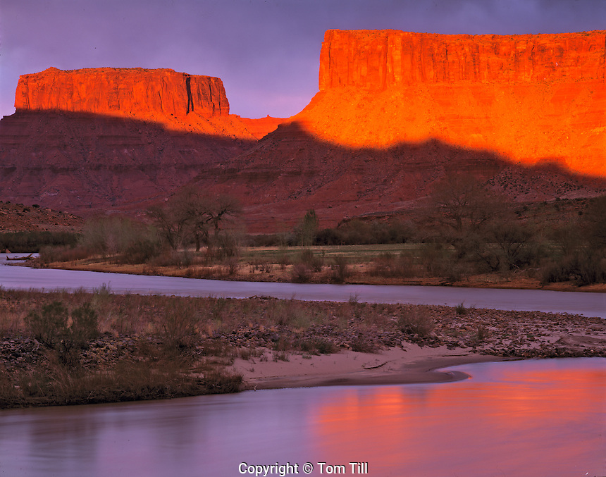 Sunset on the Colorado River, Near Moab, Utah