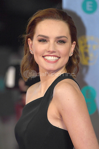 LONDON, ENGLAND - FEBRUARY 12: Daisy Ridley attends the 70th EE British Academy Film Awards (BAFTA) at Royal Albert Hall on February 12, 2017 in London, England.<br /> CAP/BEL<br /> &copy;BEL/Capital Pictures /MediaPunch ***NORTH AND SOUTH AMERICAS ONLY***