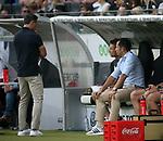 12.08.2018, Commerzbank - Arena, Frankfurt, GER, Supercup, Eintracht Frankfurt vs FC Bayern M&uuml;nchen , <br />DFL REGULATIONS PROHIBIT ANY USE OF PHOTOGRAPHS AS IMAGE SEQUENCES AND/OR QUASI-VIDEO.<br />im Bild<br />Trainer Niko Kovac (M&uuml;nchen), Co-Trainer Robert Kovac (M&uuml;nchen), Sportdirektor Hasan Salihamidzic (M&uuml;nchen)<br /> <br /> Foto &copy; nordphoto / Bratic