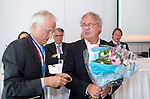 ROTTERDAM - De KNHB heeft  Jan Willem Schuit benoemd tot lid van verdienste. Algemene Leden Vergadering van de KNHB (Koninklijke Nederlandse Hockey Bond). FOTO KOEN SUYK