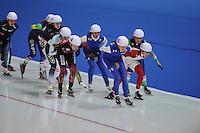 SCHAATSEN: ERFURT: Gunda Niemann Stirnemann Eishalle, 22-03-2015, ISU World Cup Final 2014/2015, Mass Start Ladies, ©foto Martin de Jong