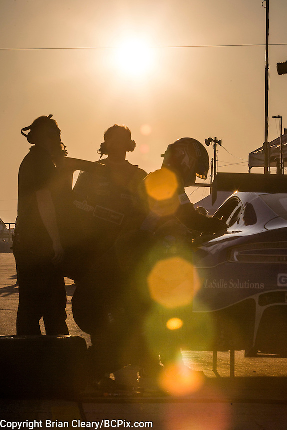 Morning warmup, 12 Hours of Sebring, Sebring International Raceway, Sebring, FL, March 2015.  (Photo by Brian Cleary/ www.bcpix.com )