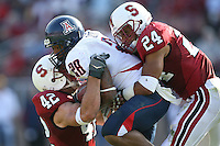 14 October 2006: Trevor Hooper and Will Powers during Stanford's 20-7 loss to Arizona during Homecoming at Stanford Stadium in Stanford, CA.