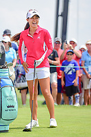 Danielle Kang (USA) shares a laugh on the 10th tee during Wednesday's preview of the 72nd U.S. Women's Open Championship, at Trump National Golf Club, Bedminster, New Jersey. 7/12/2017.<br /> Picture: Golffile | Ken Murray<br /> <br /> <br /> All photo usage must carry mandatory copyright credit (&copy; Golffile | Ken Murray)