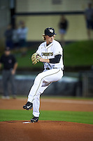 UCF Knights starting pitcher Robby Howell (41) delivers a pitch during a game against the Siena Saints on February 17, 2017 at UCF Baseball Complex in Orlando, Florida.  UCF defeated Siena 17-6.  (Mike Janes/Four Seam Images)