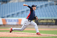 Chesdin Harrington (2) of Patrick Henry High School in Montpelier, Virginia playing for the Cleveland Indians scout team during the East Coast Pro Showcase on July 31, 2014 at NBT Bank Stadium in Syracuse, New York.  (Mike Janes/Four Seam Images)