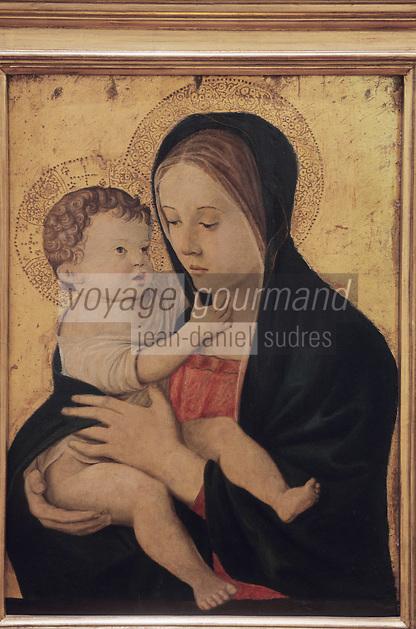 Europe/France/Corviergese/2A/Corse-du-Sud/ Ajaccio: Vierge à l'enfant Giovanni Bellini (actif de 1459 mort en 1516) au Musée Fesch
