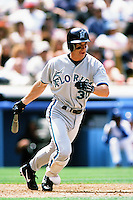 Craig Counsell of the Florida Marlins during a game against the Los Angeles Dodgers at Dodger Stadium circa 1999 in Los Angeles, California. (Larry Goren/Four Seam Images)
