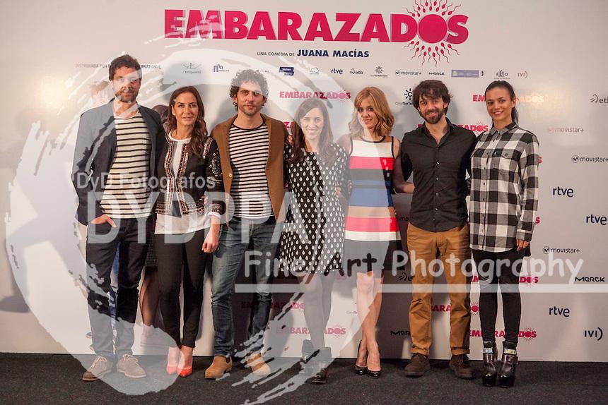 Inaki Font,  Belen Lopez, Paco Leon, Juana Macias, Alexandra Jimenez,  Alberto Amarilla and Elia Mouliaa