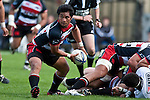 Notise Tauafao clears from a ruck. Air New Zealand Cup Rugby game between Counties Manukau & Auckland played at Eden Park Auckland on Sunday October 18th 2009..Auckland won the game 37 - 14.