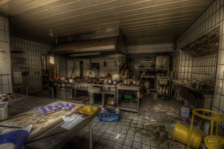 A abandoned hotel kitchen in the south of Germany