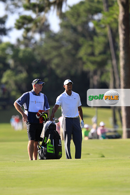 Tiger WOODS (USA)  during round 1 at The Players, TPC Sawgrass, Ponte Vedra Beach, Florida, United States. 07/05/2015<br /> Picture Fran Caffrey, www.golffile.ie