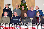 Front L to R Brendan Moriarty, Bobby Boylan, Michael O'Shea, Michael Cremens, Back L to R Sean Kelly, Tony Kenny, Thomas Hill, Tom Daly, Paddy Daly at the Dominican Church Christmas Mass and Party at Kerins O'Rahilly's Clubhouse on Sunday
