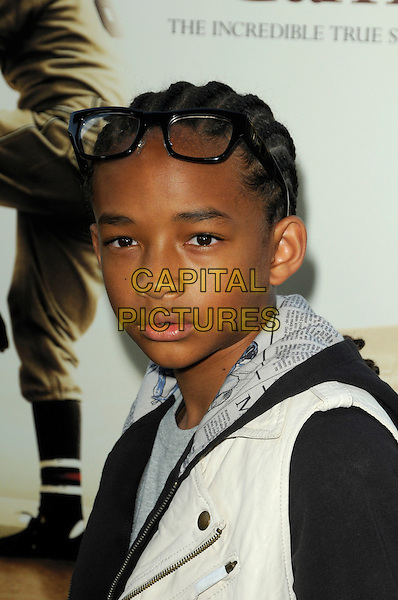 "JADEN SMITH.""The Perfect Game"" Los Angeles Premiere held At The Pacific Theaters at the Grove, Los Angeles, California, USA. .April 5th, 2010 .headshot portrait glasses black white grey gray top .CAP/ROT.©Lee Roth/Capital Pictures"
