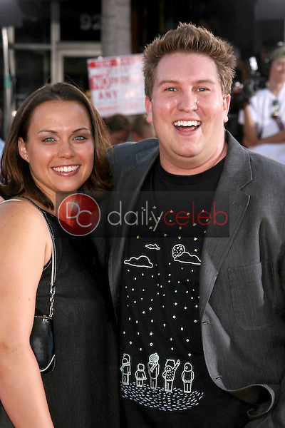 """Nate Torrence and wife Christie<br />at the World Premiere of """"Get Smart"""". Mann Village Theatre, Westwood, CA. 06-16-08<br />Dave Edwards/DailyCeleb.com 818-249-4998"""