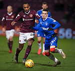 29.02.2020 Hearts v Rangers: Loic Damour and Ryan Kent