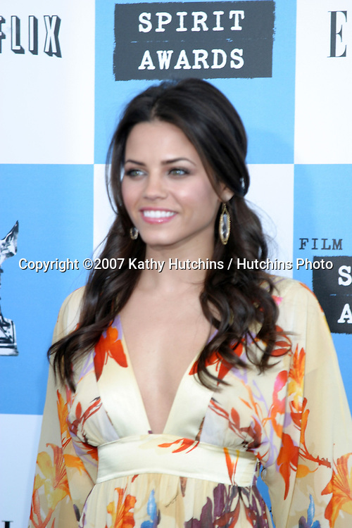 Jenna Dewan.2007 Film Independent's Spirit Awards.On the Beach.Santa Monica, CA.February 24, 2007.©2007 Kathy Hutchins / Hutchins Photo....