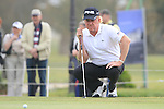 Miguel Angel Jimenez (ESP), tournament host, on the 18th green during Day 2 Friday of the Open de Andalucia de Golf at Parador Golf Club Malaga 25th March 2011. (Photo Eoin Clarke/Golffile 2011)