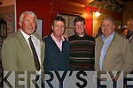 Garda Tom O'Connor (left) at his retirement party in the Fertha Bar Cahersiveen with one of the many Units he has served with in the area, pictured here with Jim Lorton, John Gleeson & John Clohessy.  Tom has had a long career in the area serving the community in Iveragh for 30 years.  We wish him a Bon Voyage in his golden years.