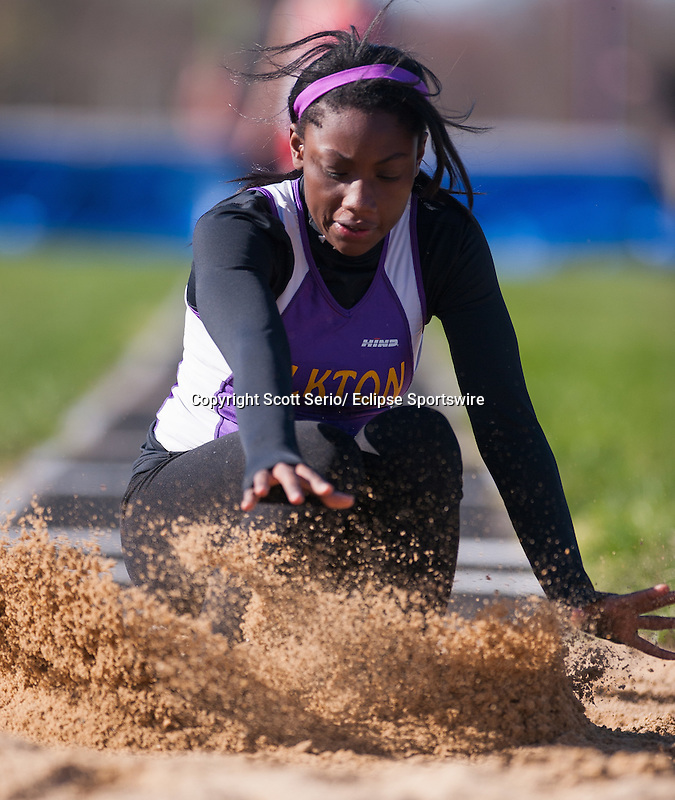 Scenes from the Five Team Track Meet at Rising Sun High School.