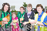 CHICKENS: Getting to hold some of the chics and chickens on sale at the Spa Tralee to raise funds for the local ladies football team on Saturday morning, l-r: Sarah kate Daly, Ava Kelly, Meadhbh O'Brien,. Eoghan O'Brien and Peggy Daly.......