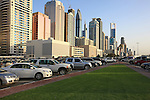 Asie; Golfe Persique; Moyen Orient; Emirats Arabes Unis; Dubai; buildings du quartier de la Sheikh Zayed Road//Asia; Persian Gulf; Middle East; United Arab Emirates; Dubai; Sheikh Zayed Road area; skyscrapers