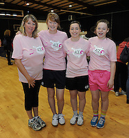 17th November 2013; Patrica O'Flaherty, Aishling Mullen, Eilise McCrory, Clodagh Donaghy. She's Ace - Women in handball event, Breaffy House Sports Arena, Castlebar, Co Mayo. Picture credit: Tommy Grealy/actionshots.ie.