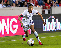 HOUSTON, TX - FEBRUARY 03: Christen Press #20 of the USA advances the ball during a game between Costa Rica and USWNT at BBVA Stadium on February 03, 2020 in Houston, Texas.