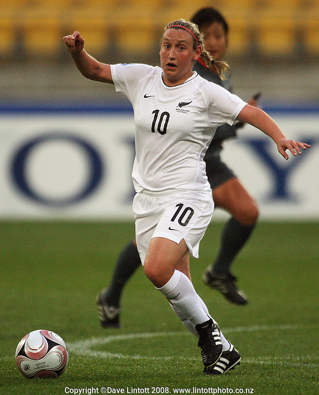 Annalie Longo during the FIFA Women's Under-17 World Cup pool match between New Zealand and Columbia at Westpac Stadium, Wellington, New Zealand on Tuesday, 4 November 2008. Photo: Dave Lintott / lintottphoto.co.nz