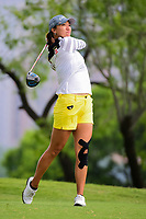 Annie Park (USA) watches her tee shot on 3 during round 3 of  the Volunteers of America Texas Shootout Presented by JTBC, at the Las Colinas Country Club in Irving, Texas, USA. 4/29/2017.<br /> Picture: Golffile | Ken Murray<br /> <br /> <br /> All photo usage must carry mandatory copyright credit (&copy; Golffile | Ken Murray)