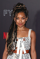LOS ANGELES, CA - MAY 29: Logan Browning at the #NETFLIXFYSEE Comediennes: In Conversation Event at NETFLIX FYSEE Raleigh Studios in Los Angeles, California on May 29, 2018. <br /> CAP/MPI/FS<br /> &copy;FS/MPI/Capital Pictures