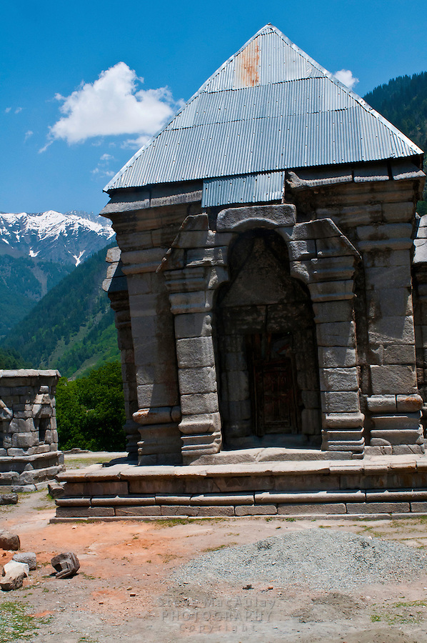 Nara Nag / Narannag Temple complex, near the hamlet of Wangath, Kashmir, India.  This is one of the largest temple complexes in Kashmir. It dates from the 9th Century AD. The chief deity is Lord Shiva.
