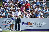 Justin Rose (ENG) on the 1st tee during the 1st round at the WGC Fedex, TPC Southwinds, Memphis, Tennessee, USA. 25/07/2019.<br /> Picture Ken Murray / Golffile.ie<br /> <br /> All photo usage must carry mandatory copyright credit (© Golffile | Ken Murray)