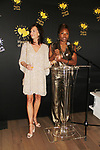 Cheryl Barrett & Deborah Koenigsberger - Founder & CEO of Hearts of Gold annual All That Glitters Gala - 24 years of support to New York City's homeless mothers and their children - (VIP Reception - Silent Auction) was held on November 7, 2018 at Noir et Blanc and the 40/40 Club in New York City, New York.  (Photo by Sue Coflin/Max Photo)