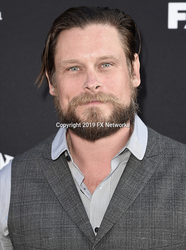 "LOS ANGELES - AUGUST 27: Trenton Rostedt attends the season two red carpet premiere of FX's ""Mayans M.C"" at the ArcLight Dome on August 27, 2019 in Los Angeles, California. (Photo by Scott Kirkland/FX/PictureGroup)"