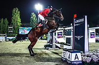 BEL-Niels Bruynseels rides Cas de Liberte during the Longines FEI Nations Cup Jumping Final. 2017 ESP-Longines FEI Nations Cup Jumping Final - CSIO Barcelona. Real Club de Polo de Barcelona. Saturday 30 September. Copyright Photo: Libby Law Photography