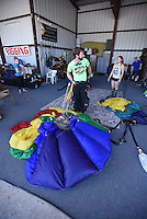 NWA Democrat-Gazette/J.T. WAMPLER Image from Sunday Aug. 9, 2015 at the Skydive Skyranch in Siloam Springs. Around forty people who raised at least $1,000 each for the SkyDive for Kids fundraiser for the Children's Advocacy Center of Benton County jumped Saturday and Sunday. The CAC provides a safe place for child abuse victims and their families to receive comprehensive services from dedicated professional interviewers, nurses, counselors and advocates.