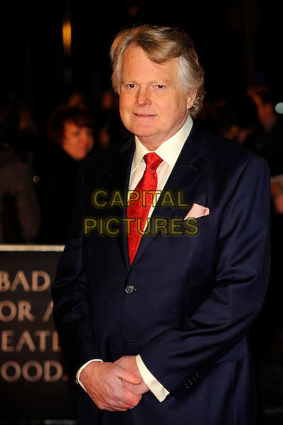 Lord Michael Dobbs.'House of Cards' Netflix Gala Screening at the Odeon West End, Leicester Square, London, UK,.January 17th 2012..half length navy blue suit red tie .CAP/CJ.©Chris Joseph/Capital Pictures.