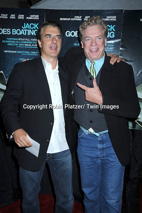"""actors Chris Noth and Christopher McDonald arriving at the Premiere of """"Jack Goes Boating"""" on September 16, 2010 at The Paris Theatre in New York City."""