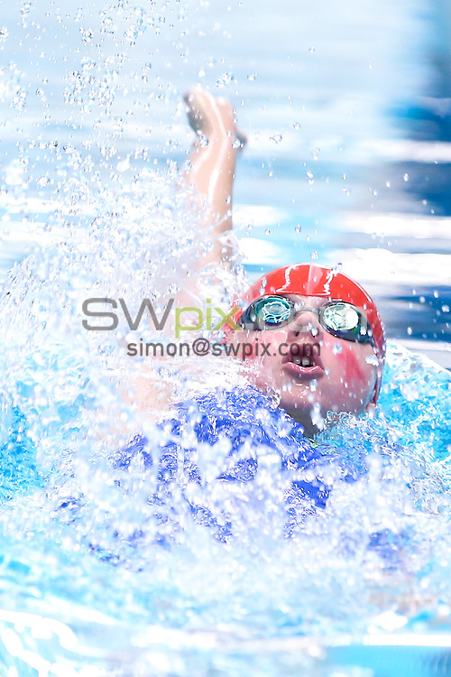 Picture by Alex Whitehead/SWpix.com - Swimming - ASA National County Team Championships 2014 - Ponds Forge, Sheffield, England - 19/10/2014 - Ox & North Bucks' Emily Ford competes in the Girls 12/13yrs 100m Backstroke heat 1.