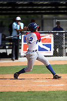 Romer Rojas participates in the Dominican Prospect League 2014 Louisville Slugger Tournament at the New York Yankees academy in Boca Chica, Dominican Republic on January 20-21, 2014 (Bill Mitchell)