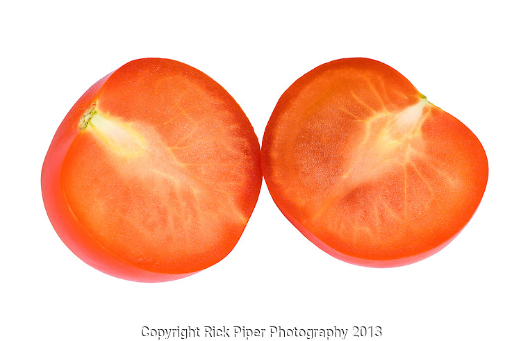 Lucky Cut 01 - Tomato sliced perfectly in half