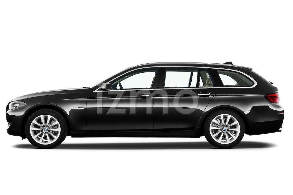 Driver side profile view of a 2013 BMW 5 Series 530d Wagon