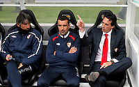Sevilla´s coach Unai Emery (r) during La Liga match. March 28, 2010. (ALTERPHOTOS/Víctor J Blanco)
