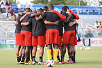 07 May 2016: Fort Lauderdale's starters huddle before the game. The Carolina RailHawks hosted the Fort Lauderdale Strikers at WakeMed Stadium in Cary, North Carolina in a 2016 North American Soccer League Spring Season game. The Strikers won the game 3-1.