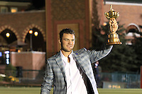 Winning European Team Player Martin Kaymer (GER) after Sunday's Singles Matches of the 39th Ryder Cup at Medinah Country Club, Chicago, Illinois 30th September 2012 (Photo Colum Watts/www.golffile.ie)